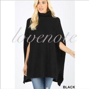 1 LEFT! Cowl/ Turtleneck Neck Poncho Tunic Sweater